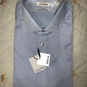 Calvin Klein steel slim fit dress shirt